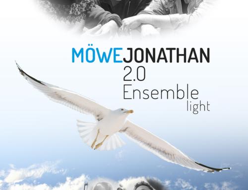 Möwe Jonathan 2.0 Ensemble Light im Literaturgarten St. Florian